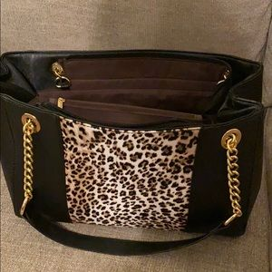 Handbags - Leopard n black purse